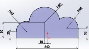 正接、3点円弧の画像